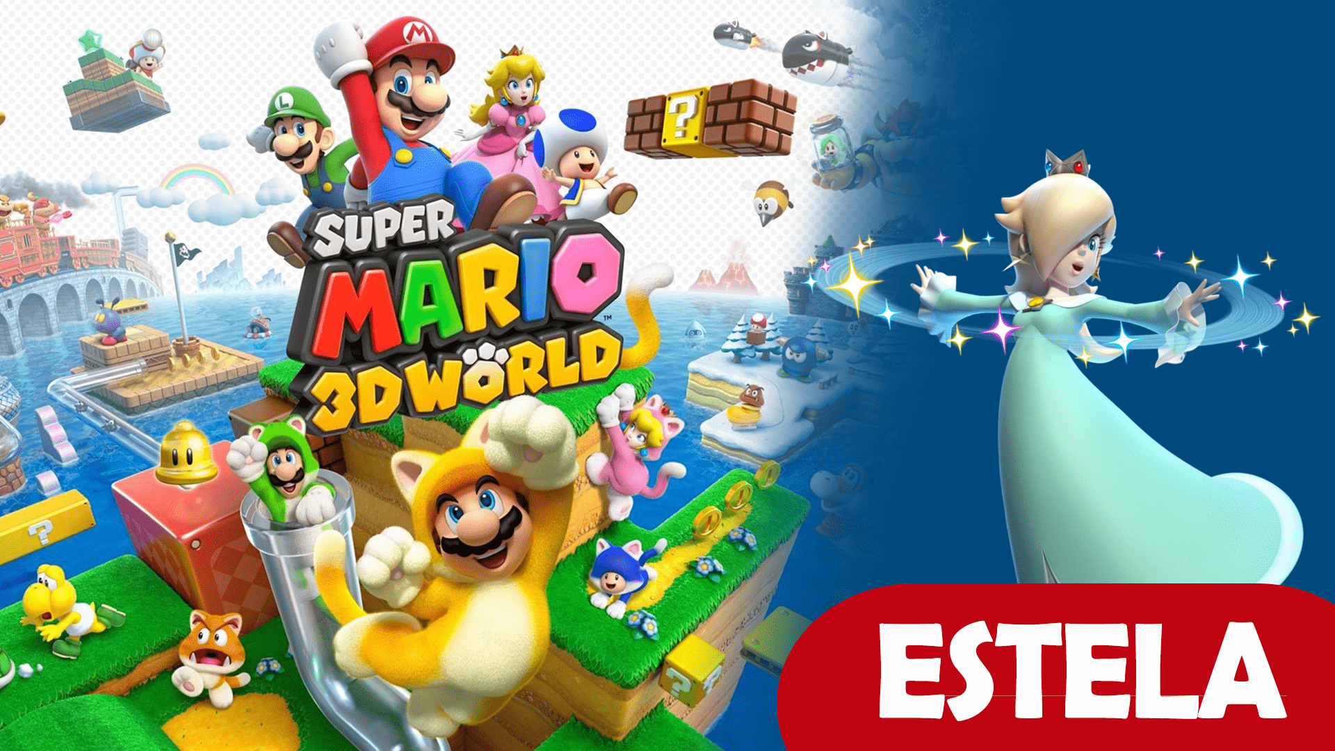 Mario 3D World Estela guia